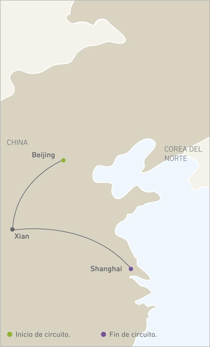 BEIJING, XIAN, SHANGHAI.